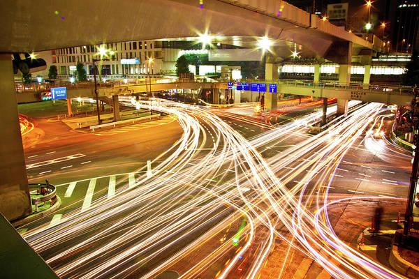 Rush Hour Photograph - Shibuya Lightstreams, Tokyo by Copyright Artem Vorobiev