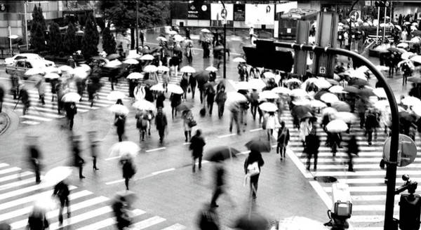 Crowd Photograph - Shibuya Scramble Crossing by Fabio Cremasco