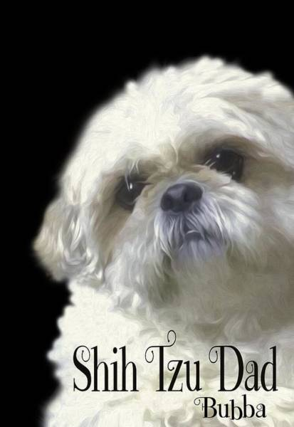 Photograph - Shih Tzu For Dad-bubba by Ericamaxine Price