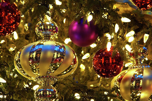 Photograph - Shimmering Christmas Decorations by Tatiana Travelways