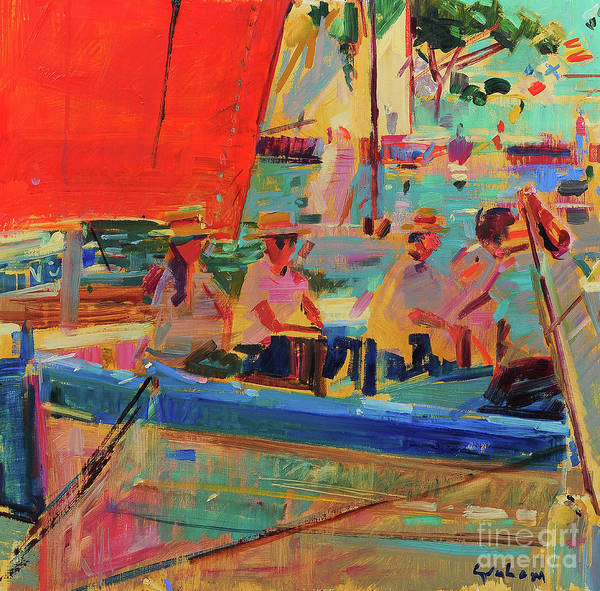Wall Art - Painting - Shimmering Sea, Saint-tropez by Peter Graham