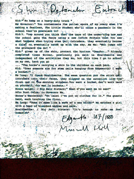 Relief - Shin Detonator Book Dada Page 107r1 by Artist Dot