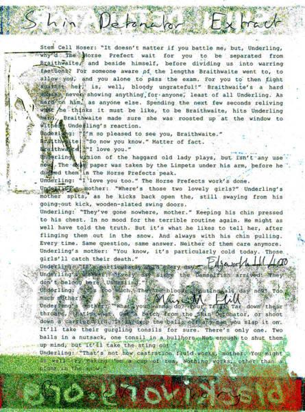 Relief - Shin Detonator Book Dada Page 111r1 by Artist Dot