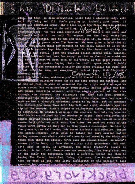 Relief - Shin Detonator Book Dada Page 113r2 by Artist Dot