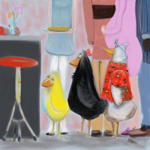 Bbq Digital Art - Shiney Things by Jenn Campbell