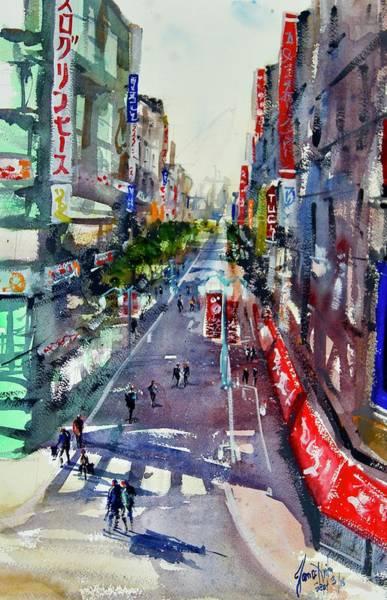 Wall Art - Painting - Shinjuku 1 by James Nyika