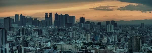 Wall Art - Photograph - Shinjuku Sunset, Tokyo by Chris Jongkind