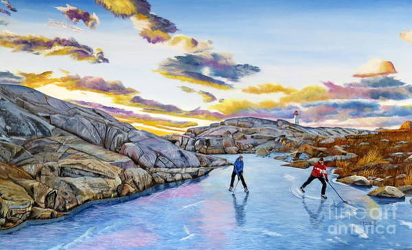 Painting - Shinny At Rock Pool Pond by Marilyn McNish
