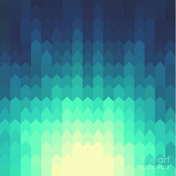 Illuminated Wall Art - Digital Art - Shiny Background With Geometric Pattern by Ileysen