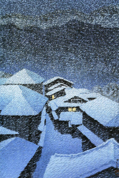 Wall Art - Painting - Shiobara Hataori - Digital Remastered Edition by Kawase Hasui
