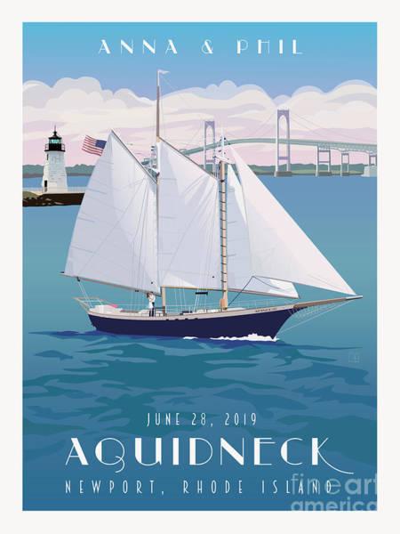 Wall Art - Painting - Ship Aquidneck Newport, Ri by Leslie Alfred McGrath