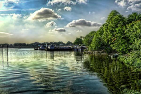 India Photograph - Ship Ferry - Hussain Sagar Lake by Created By Swasti Verma