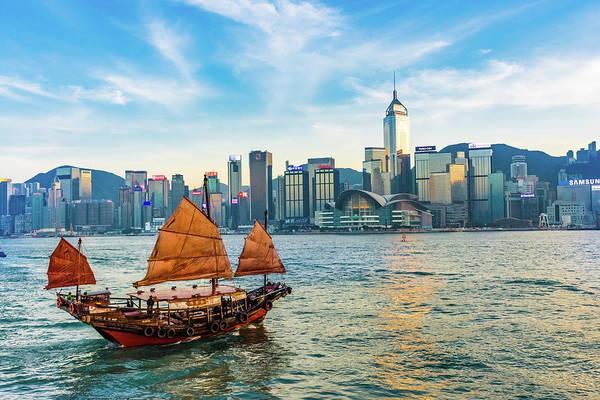 Hongkong Photograph - Ship In Hong Kong by Stefano Zaccaria