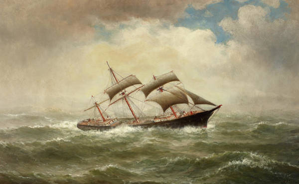 Wall Art - Painting - Ship In Rough Seas by William Alexander Coulter
