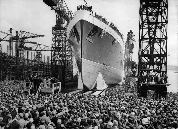 Crowd Photograph - Ship Launch by Keystone