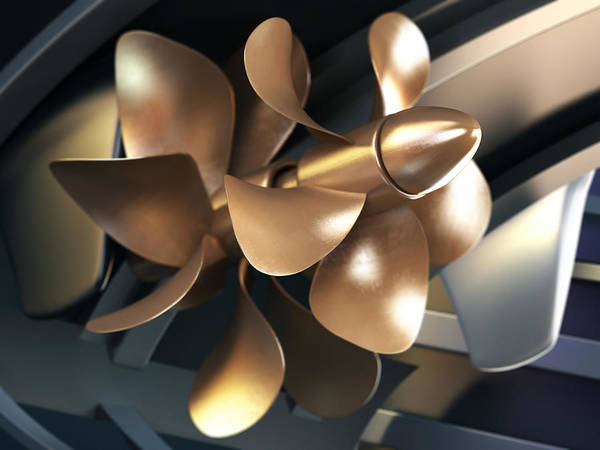 Three Dimensional Wall Art - Photograph - Ship Propeller by Adventtr