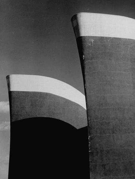 Photograph - Ship Prow-like Structures Atop An Uniden by Alfred Eisenstaedt
