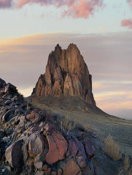 Photograph - Ship Rock Sunset, New Mexico by