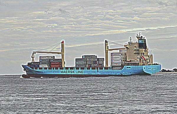 Digital Art - Ship With Cargo by Cynthia Guinn