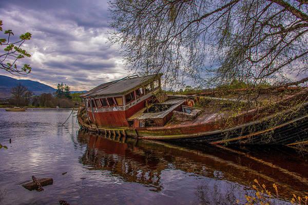 Wall Art - Photograph - Ship Wreck - Loch Ness Scotland by Bill Cannon