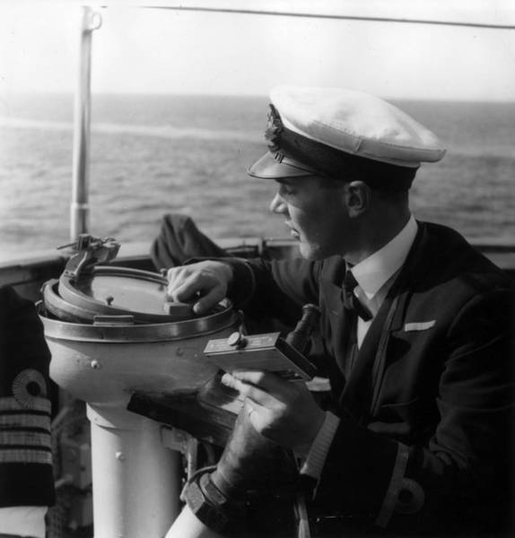 British Armed Forces Photograph - Shipboard Compass by Bert Hardy