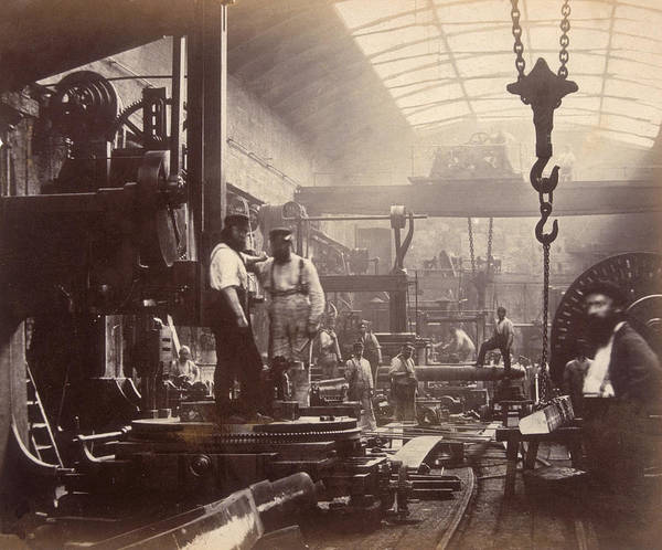 Workshop Photograph - Shipbuilding by Hulton Archive