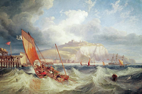 Wall Art - Painting - Shipping Off Dover by John Wilson Carmichael