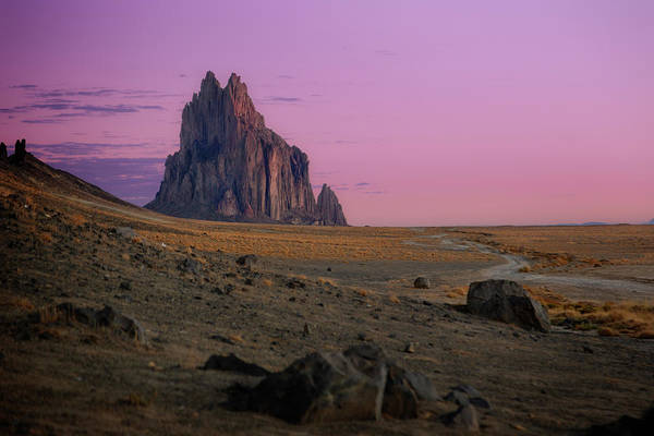 Land Of Enchantment Photograph - Shiprock II by Ricky Barnard