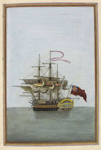 Wall Art - Painting - Ships Captain, Represented By The Mars, A Naval Battleship Prominent In The Napoleonic Wars by Celestial Images