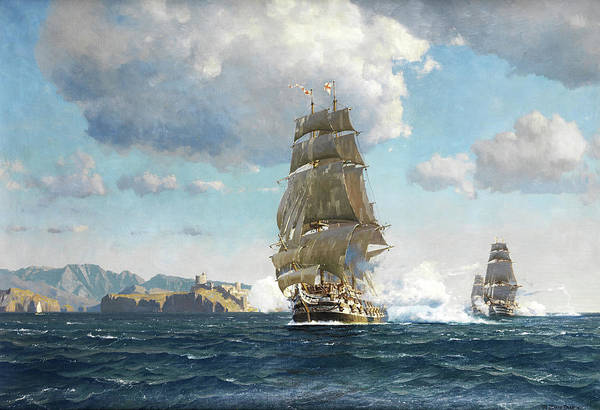 Wall Art - Painting - Ships by Michael Zeno Diemer