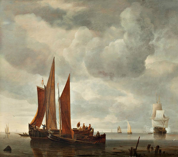Painting - Ships Outside Dordrecht by Hendrick Dubbels
