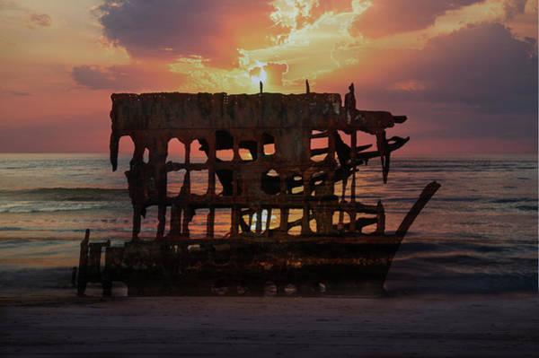 Wall Art - Photograph - Shipwreck At Oregon Coast by Art Spectrum
