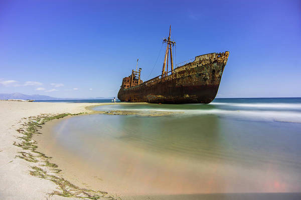 Photograph - Shipwreck Dimitros Near Gythio, Greece by Milan Ljubisavljevic