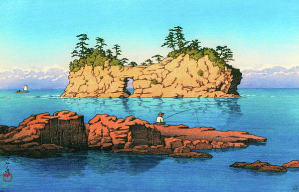 Wall Art - Painting - Shirahama Engetsu Island - Digital Remastered Edition by Kawase Hasui