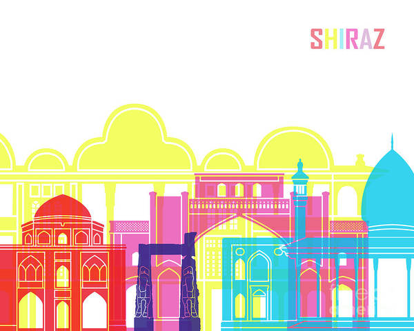 Wall Art - Painting - Shiraz Skyline Pop by Pablo Romero