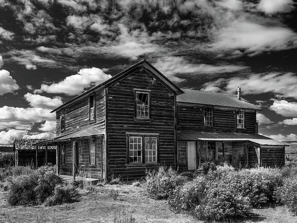 Photograph - Shirk Ranch Bw by Leland D Howard
