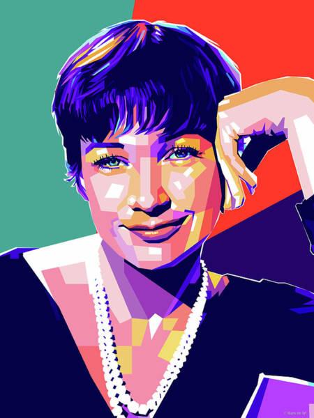 Digital Art - Shirley Maclaine Pop Art by Stars on Art