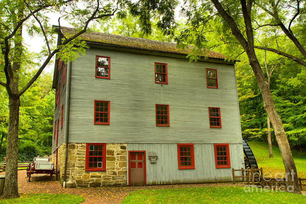 Photograph - Shoaff's Hitoric Grist Mill by Adam Jewell