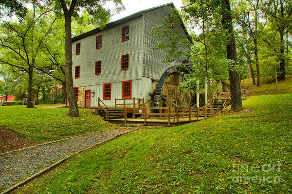 Photograph - Shoaff's Old Grist Mill by Adam Jewell