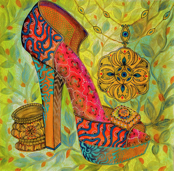Painting - Shoe by Ellie Perla
