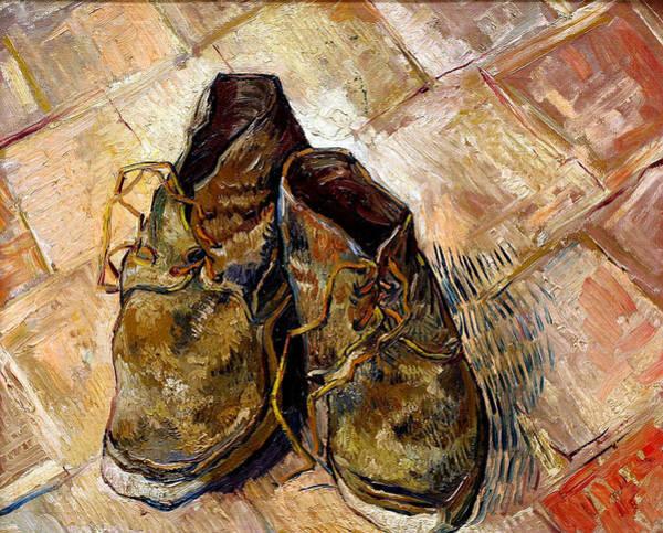 Painting - Shoes 1888 Van Gogh by Vincent Van Gogh
