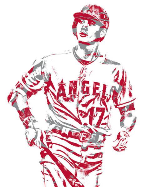 Wall Art - Mixed Media - Shohei Ohtani Los Angeles Angels Pixel Art 22 by Joe Hamilton