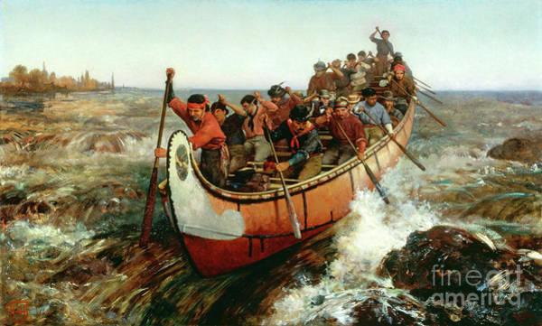 Painting - Shooting The Rapids by Frances Anne Hopkins
