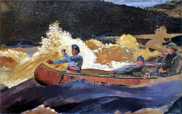 Stump Painting - Shooting The Rapids, Saguenay River - Digital Remastered Edition by Winslow Homer
