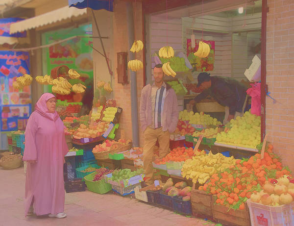 Photograph - Shopping In The Kasbah by Jessica Levant