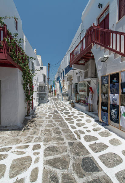 Photograph - Shopping Street In Mykonos by Ed Freeman
