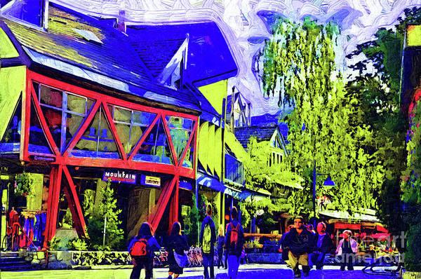 Digital Art - Shopping Whistler by Kirt Tisdale
