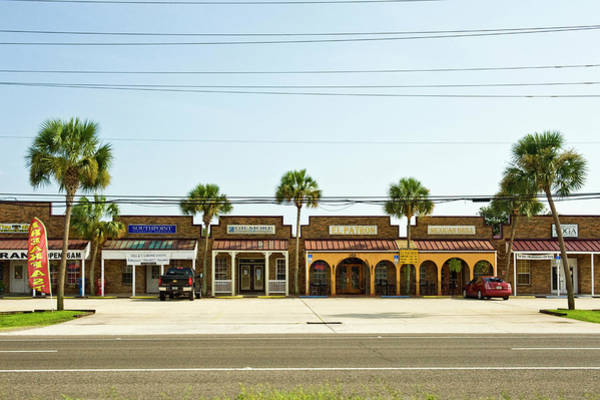 Parking Structure Photograph - Shops By The Street Side, Pensacola by Stock4b