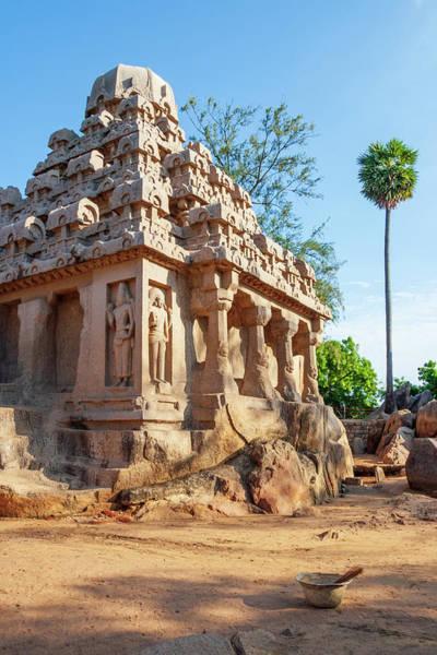Stone Wall Art - Photograph - Shore Temple At Mahabhalipuram by Iordanis Pallikaras