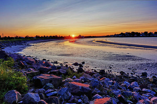 Photograph - Short Beach Sunset Nahant Ma Rocky Coast by Toby McGuire